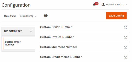 custom order number magento2-store views