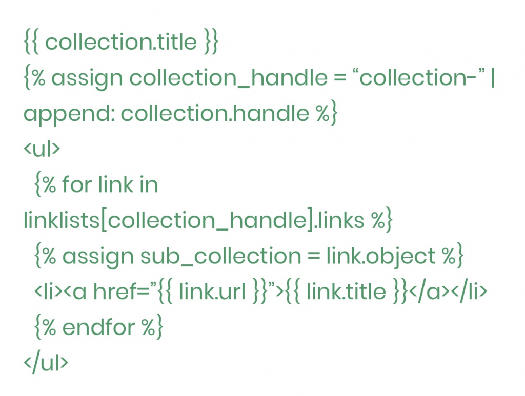 How To Add Sub Collections In Shopify?