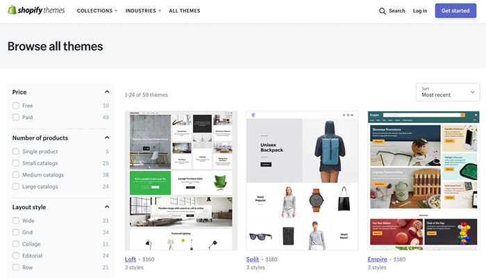 Themes and design flexibility of Shopify and Shopify plus