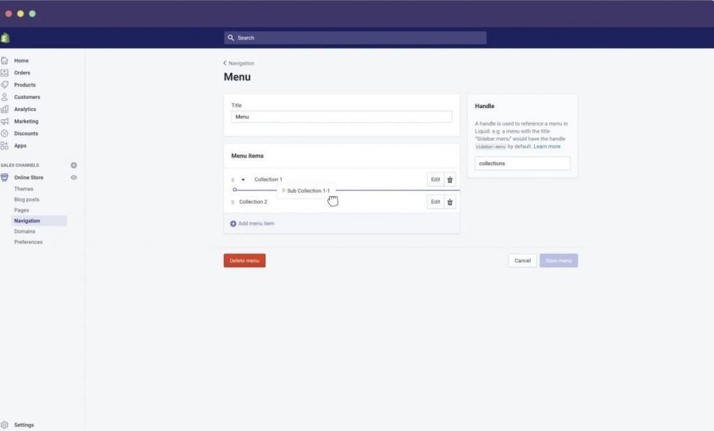 How to add sub collection to your Shopify store