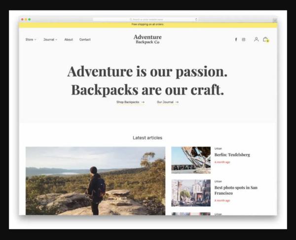 Editorial Shopify Blog Theme