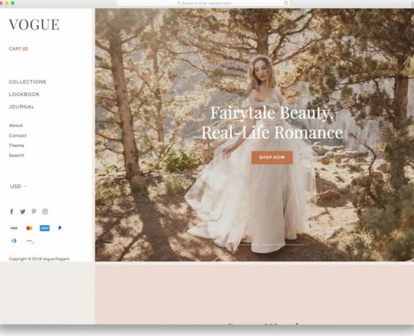 Vogue Shopify Blog Theme