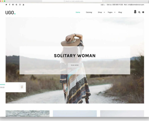 Ugo is one of the best Shopify blog themes