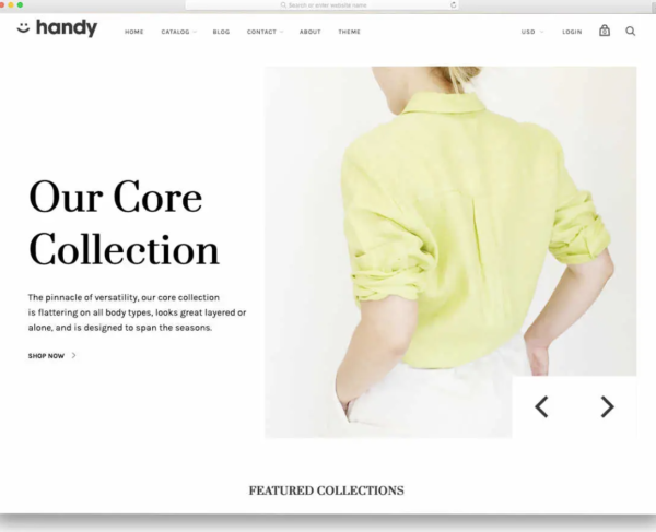 Handy Shopify Theme Example
