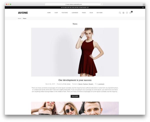 Avone Shopify Theme