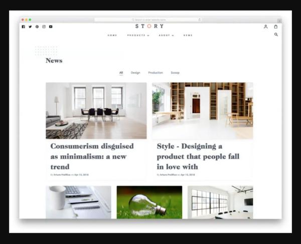 Story Shopify Blog Theme
