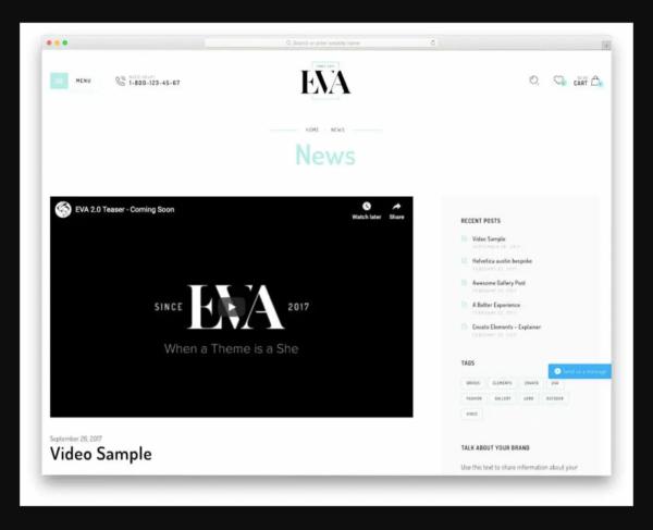 Eva Shopify Blog Theme