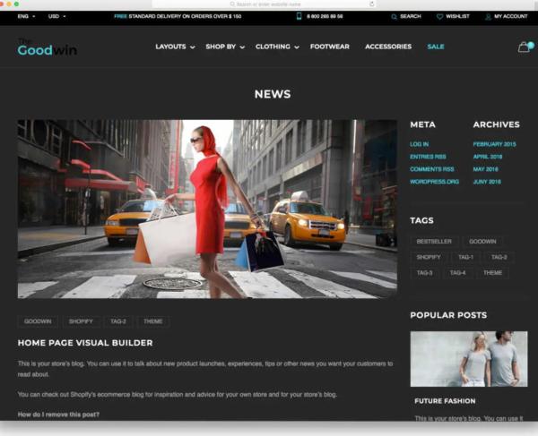 Goodwin Shopify Blog Theme