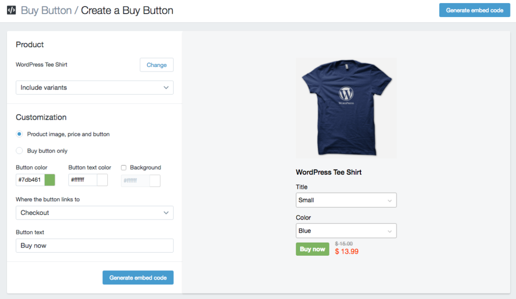"""Use Shopify """"Buy Button"""" to sell on external sites"""