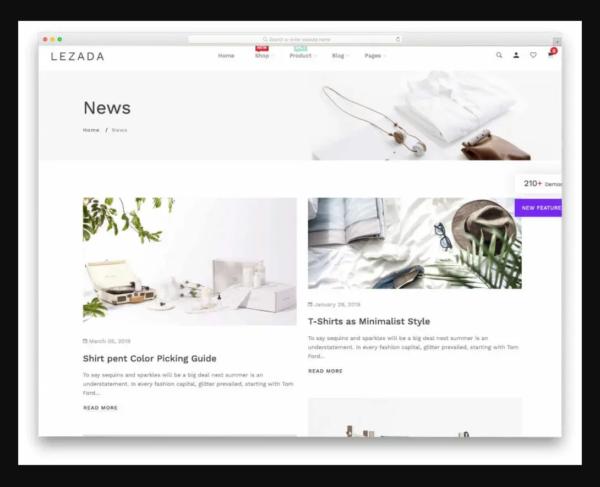 Lezada Shopify Blog Theme
