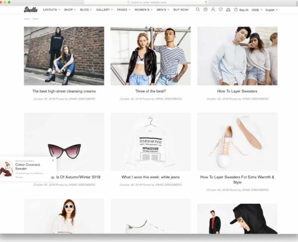 Shella Shopify Blog Theme