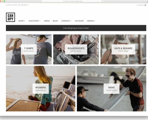 Canopy Best Shopify Blog Theme