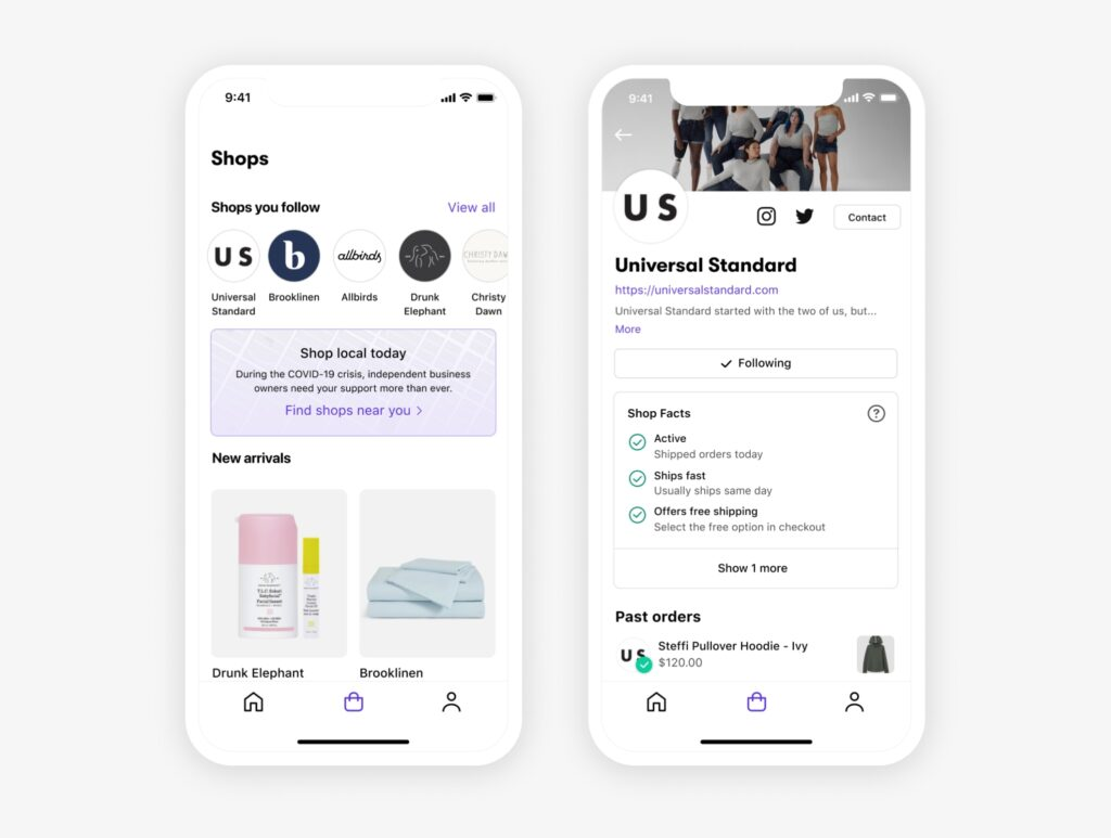 Shopify offers a mobile app to optimize user experience on the phone