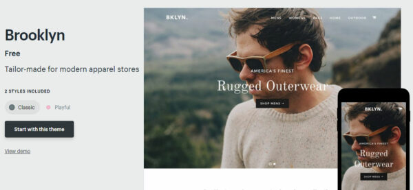 Brooklyn: Best Shopify Theme For Custom Products