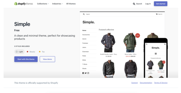 Simple: Best Shopify Theme For Custom Products