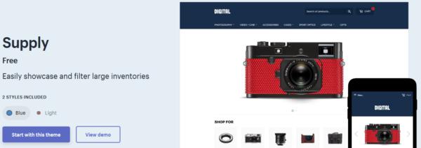 Supply: Best Shopify Theme Supply