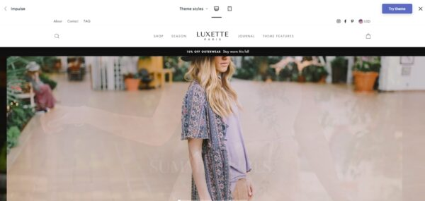 Impulse: Best Shopify Theme For Custom Products