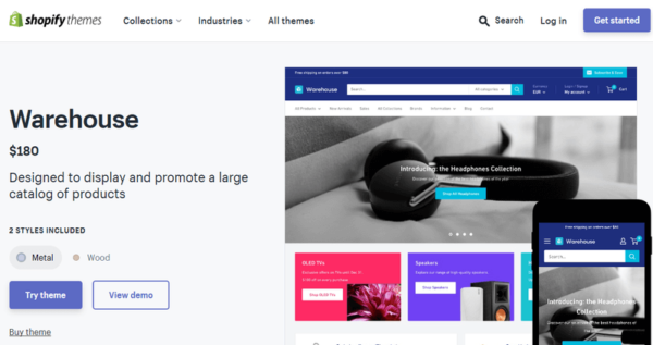 Warehouse: Best Shopify Theme For Custom Products