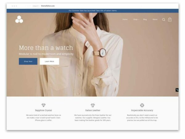 Modular is one of the best Shopify themes for jewellery