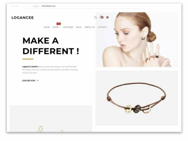 Logancee Shopify Themes for Jewellery