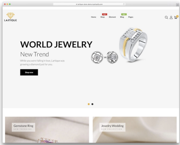 Lartique Shopify Theme for Jewellery