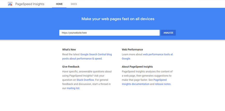 Analyze Web Page Performance